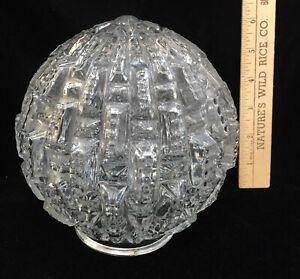 """Globe lumineux Couvrir Luminaire En Verre Clair Rond Texturé vertical design 6"""" plafond"""