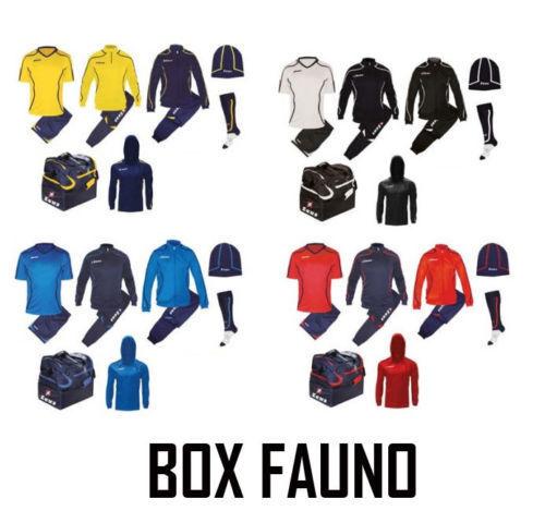 Set kit completo BOX zeus fauno 7 pezzi scuola calcio BASKET VOLLEY VISITA