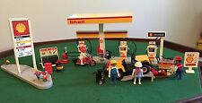 Vintage 1991 PLAYMOBIL SHELL Service Station-Complete - no box