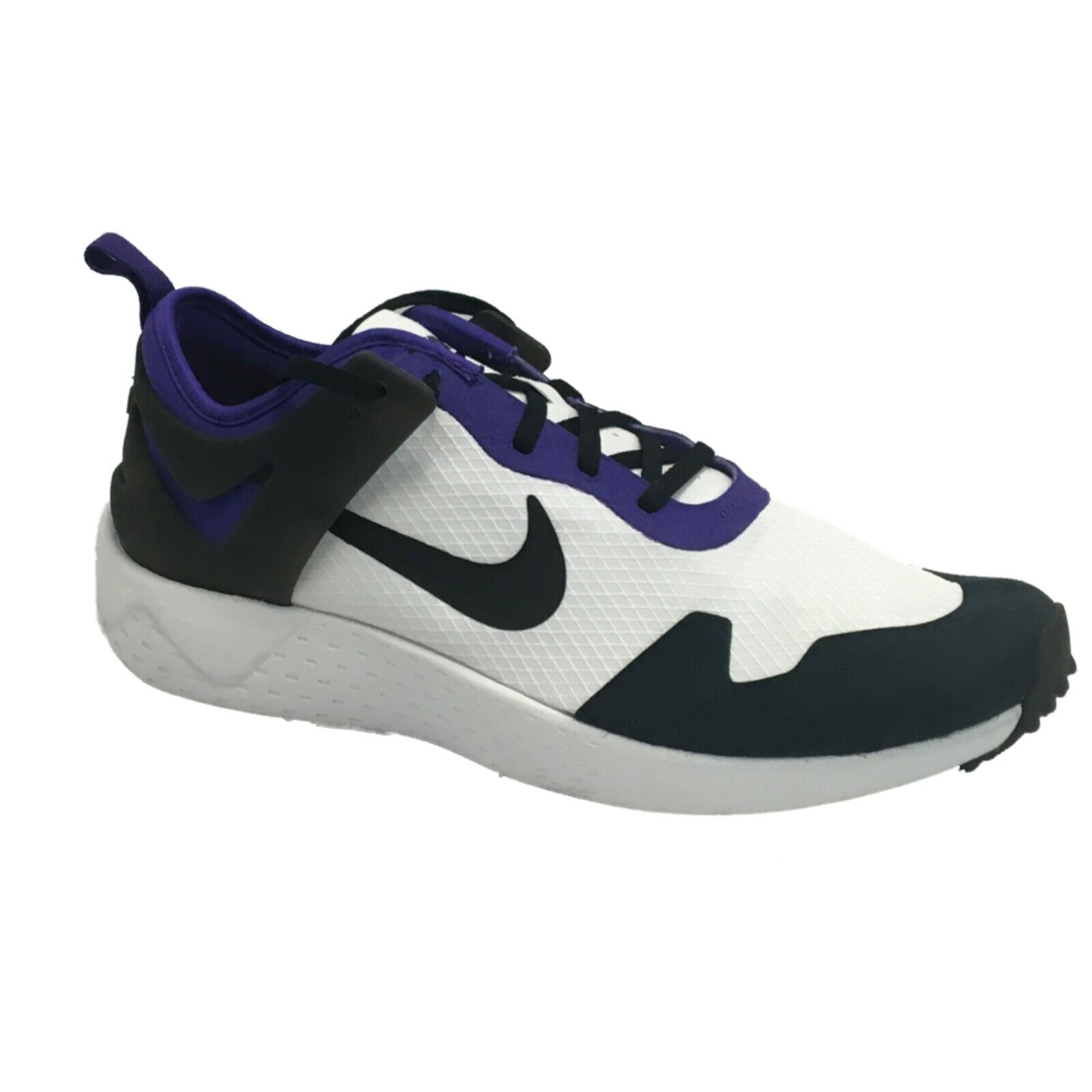 NIKE Men's Zoom Lite QS, White Black-Court Purple-Bright Citrus, 10.5 M US