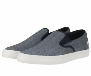 FRED-PERRY-Underspin-Mocassini-stampati-Canvas-Uomo-Scarpe-da-ginnastica-Scarpe-da-ginnastica-Navy