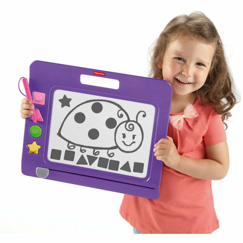 Ab 3 Jahre Kinder Maltafel Magnetische Zaubertafel mit 4 Stempel Magnet Tafel