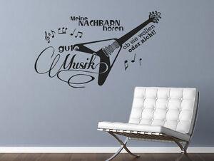 Wandtattoo Musik Spruche Meine Nachbarn Horen Gute Musik Nr 2 Wand Tattoos Music Ebay