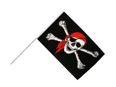 Stockflagge Stockfahne Pirat mit Kopftuch 60x90cm Fahne Flagge mit Stock