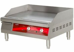 Image Is Loading Countertop Electric Griddle 24 034 Restaurant Kitchen  Commercial