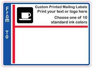 "1-Color 1000 Custom 3//4/"" x 1-1//4/"" Business Labels Printed Rectangle Stickers"