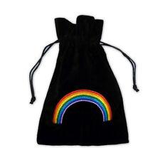 Chakra Rainbow Embroidered Luxury Tarot Bag Velvet 190 x 130mm