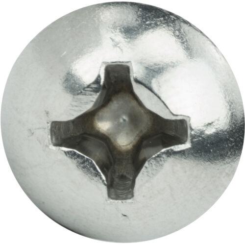 """1//4-20 x 1//2/"""" Phillips Round Head Machine Screws Stainless Steel 18-8 Qty 100"""