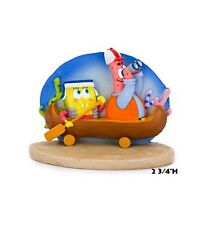 SpongeBob Squarepants Fish Aquarium Ornament With Patrick in Canoe SBR45