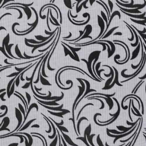 Tischläufer Ornamente in Schwarz, beflockt, 29 cm