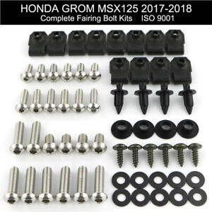 For HONDA GL1800 GOLDWING 2001-2018 Stainless Fairing Bolt Kit Bodywork Screws