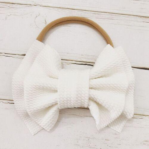 Baby Girls Kids Toddler Bow Knot Hairband Headband Stretch Turban Head Zwjj