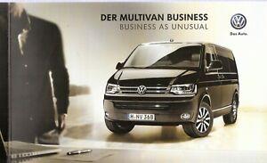 Juste Prospectus/brochure Vw Multivan Business 05/2013 Avec Liste De Prix-afficher Le Titre D'origine Les Couleurs Sont Frappantes