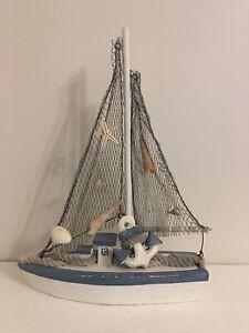 2-set Wooden Tabletop Sea Ornament Beach//Seaside//Nautical Gift Home Bar Club