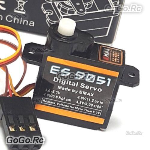 Details about  /EMAX 4.3g Digital Servo Pastic Gear 0.8kg Torque for 3D F3P Airplanes ES9051