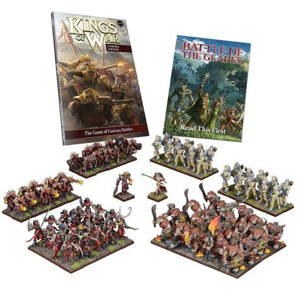 KINGS OF WAR Entièrement neuf dans sa boîte The Battle Battle Battle of the Glades  deux joueurs Battle Set mgkwm 110 090936