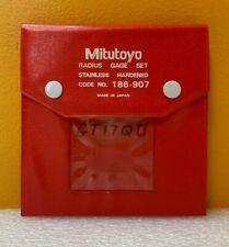Mitutoyo 186 907 0550 To 1 10 Pc Sae Ss Radius Gage Set Case Tested
