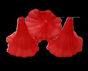5-10 Acrylique Perles Fleurs Rouge Fleur gefrostet 35x41 mm BRICOLAGE Calla Lily À faire soi-même