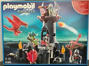 Playmobil 5089 Led Knights & Dragon Castle - Ensemble retiré du Nouvel An scellé