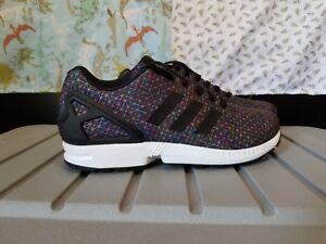 2be642f25c71 Adidas Zx Flux Black Multi-color prism Men s size 8.5 AQ4023