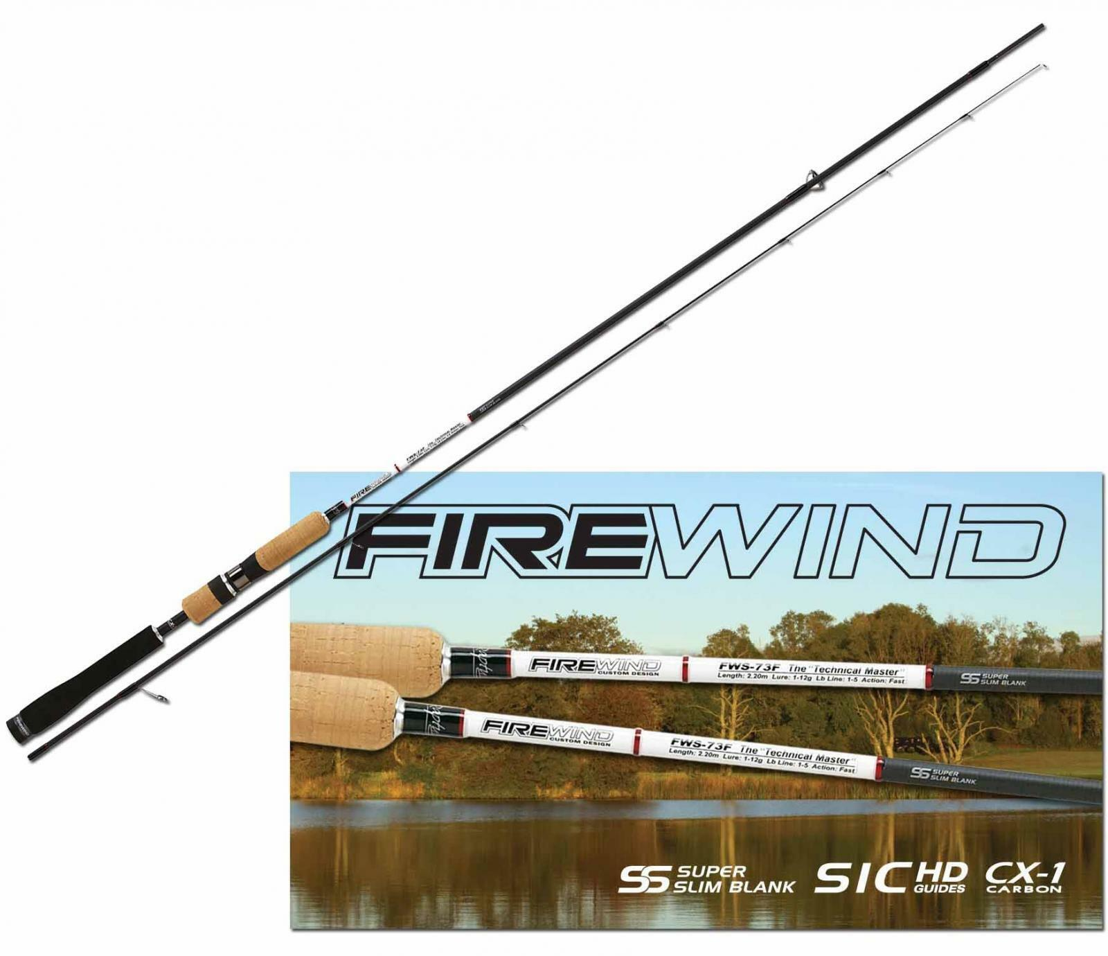 Serie Canne Spinning Rapture FireWind  Carbonio CX1 Sic Hd Guide Trout Area PP