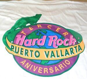 Hard-Rock-Cafe-PUERTO-VALLARTA-1993-3rd-Anniversary-T-SHIRT-Mens-XL-24-5-034-x-22-034