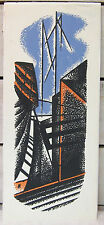 Fred Rosebury - Mid Century Color Serigraph - Cityscape - Listed Modernist