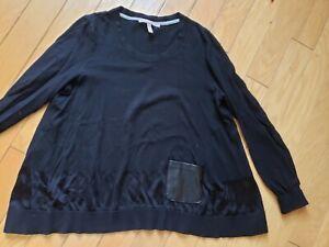 EUC-womens-Victorias-Secret-black-a-line-black-sweater-size-S