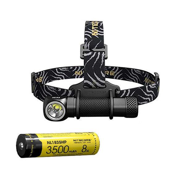 Nitecore HC33 Cree XHP35 LED Headlamp  1800Lm wNL1835HP 3500mAh 18650 Battery