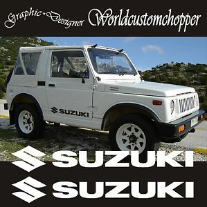2 aufkleber t r gel ndefahrzeug suzuki 4x4 samurai santana. Black Bedroom Furniture Sets. Home Design Ideas
