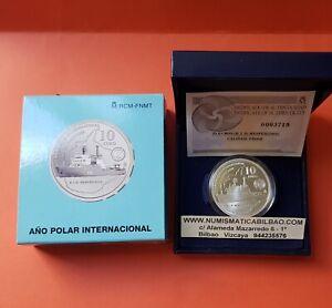 Espana-10-EUROS-2007-PLATA-BARCO-HESPERIDES-ANO-POLAR-INTERNACIONAL-ESTUCHE-FNMT
