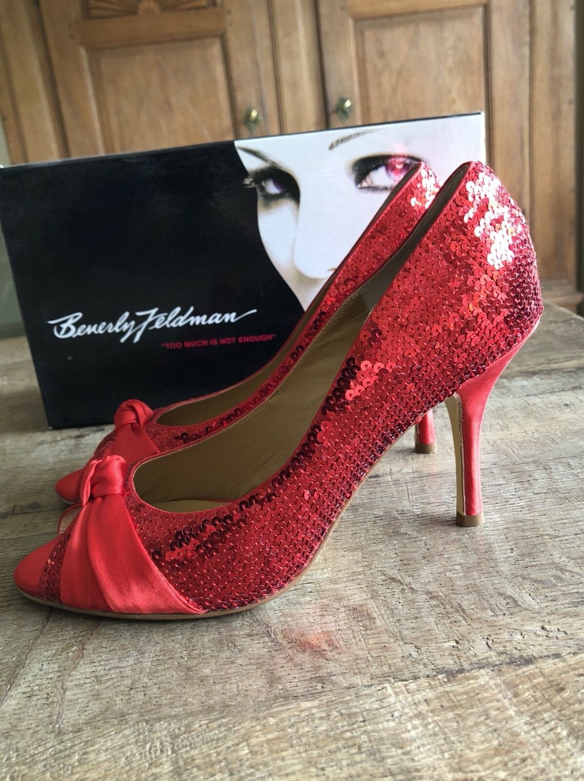 Beverly Feldman PUMPS PUMPS PUMPS Schuhe Pailletten Gr. 38 NEU mit Karton 1e0dee