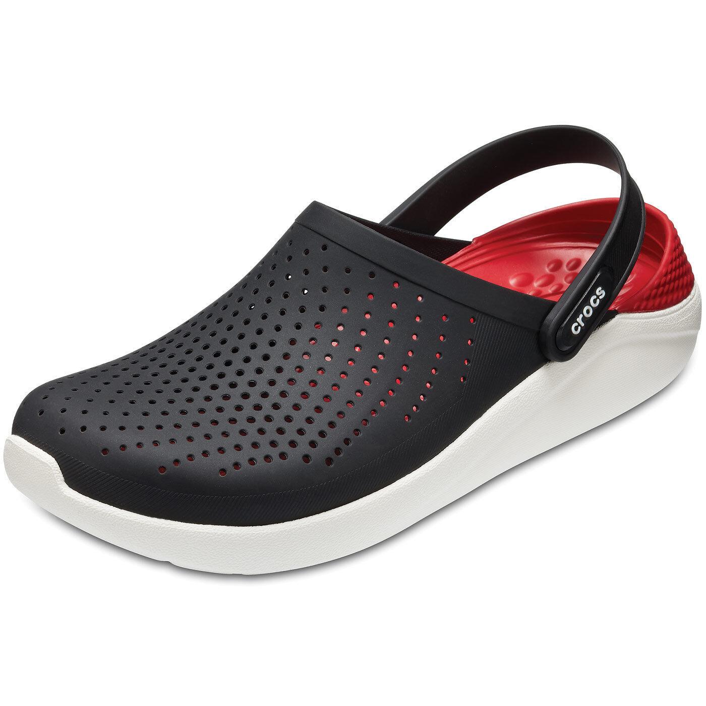 Crocs Literide Unisex Soft Clogs schwarz/weiß (black/white)