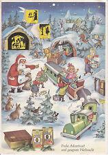 Schöner alter Adventskalender ca. 1960er Jahre Weihnachten Jacobs Kaffee Rarität
