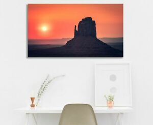Canvas Print Sunrise At Monument Valley Utah Wall Art Fine Art Ebay