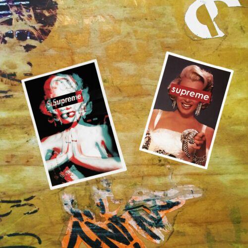 skate stickers supreme sticker Supreme Marilyn Monroe stickers