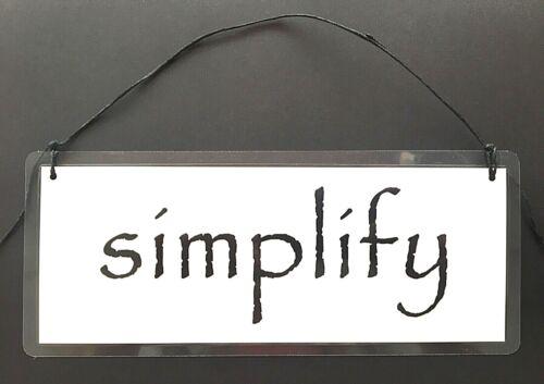 """/""""упростить/"""" 2 стороннее подвесной знак с сообщение избавиться минимализм меньше больше"""