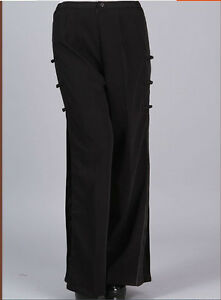 Details About Charming Chinese Women S Traditional Pants Trousers Black Size M L Xl Xxl Xxxl