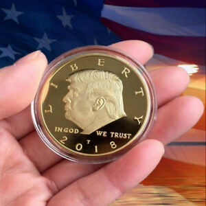 2018-President-Donald-Trump-24k-Gold-Plated-EAGLE-Commemorative-Coin-Republican