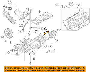 audi oem 05 09 s4 engine parts oil cooler seal (qty 1) 079103121ad 2000 ford mustang engine diagram image is loading audi oem 05 09 s4 engine parts oil