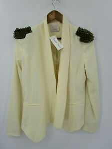 Boutique-Coveted-Clothing-NWT-Women-039-s-Studded-Shoulder-Blazer-Jacket-Size-L
