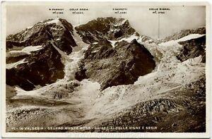 Ufficio Postale Via Monte Rosa Novara : 1936 novara gruppo monte rosa ghiacciai delle vigne e sesia fara