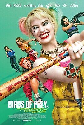 Birds of Prey Harley Quinn Movie Poster Winstead v6 24x36 - Margot Robbie