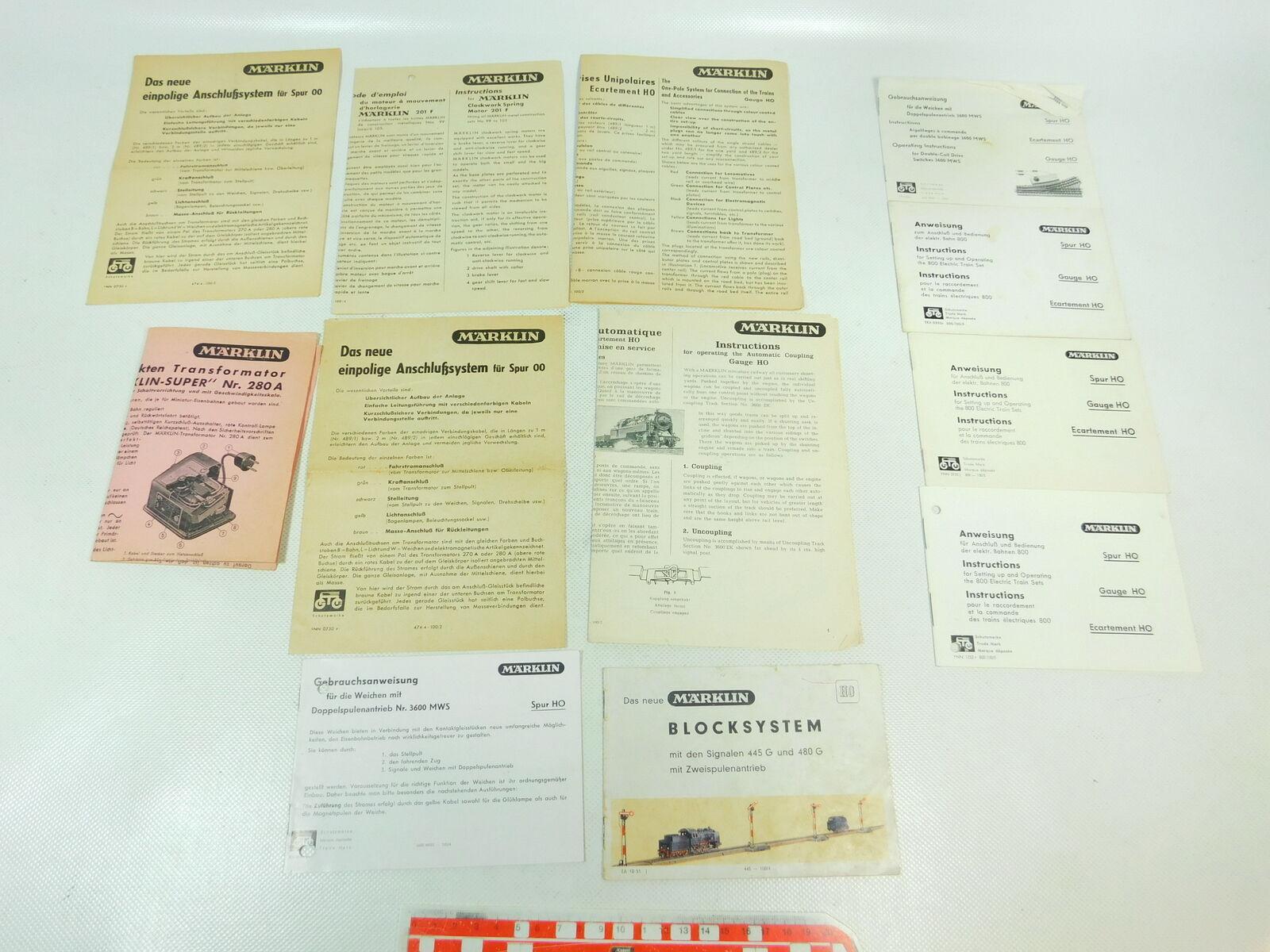 Bh825-0, 5 pieces märklin h0 00 instructions train 800, 3600, 445g 480g,280a