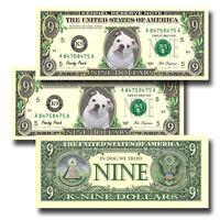 English Bulldog Pack Of Three Novelty Nine Dollar Bills Dog (3)