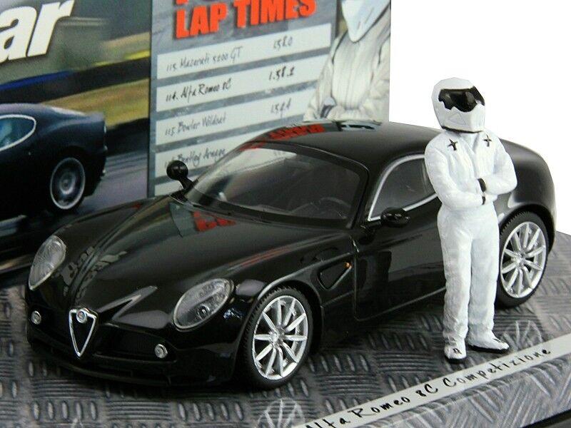 Modèle à l'échelle 1 43, Alfa Romeo 8 C Competizione - 2005-NOIR Métallisé-Top Gear