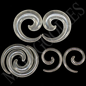 V129-Clear-Spiral-Swril-Stretchers-Tapers-Expanders-4-2-0-00G-Gauges-1-2-034-Plugs