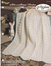 Crochet Pattern ~ CREME DE MINT Afghan ~ Instructions