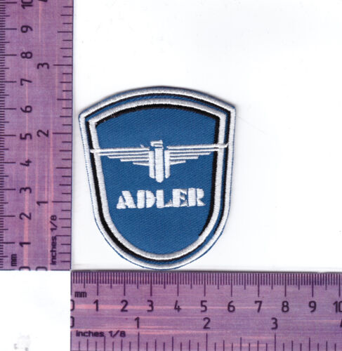 Cloth Patch  Iron or Sew Adler Vintage  Motorcycle  Embroidered Badge