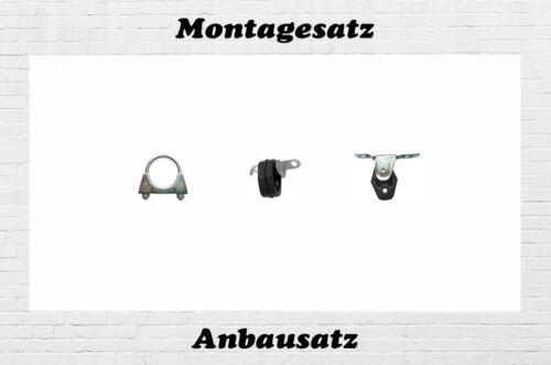 9N 1.2  Endschalldämpfer Motntagesatz Anbausatz Schelle Gummi VW Polo